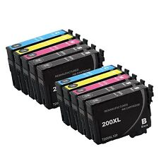 10 Pack Reman 200XL ink for Epson WF-2520 WF-2530 WF-2540 XP-210 XP-310 XP-410