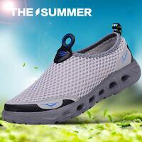 Mens Women Mesh Aqua Water Shoes Quick-Dry Slip-on Beach Pool Surf Walk Running