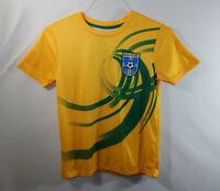 Brasil Futebol Brazil Soccer Club Boys Short Sleeve Jersey T Shirt YOUTH MEDIUM