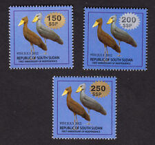 "South Sudan 2017 ""24A-26A"" Surcharges Without Serifs on £1 Birds FreeUsashipping"
