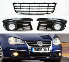 Front Lower Bumper Mesh Grill & Fog Light Covers for VW Jetta MK5 2006-2009