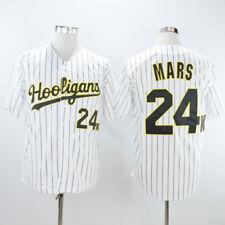 Bruno Mars 24K Hooligans All Stitched Men Customization Baseball Jersey White