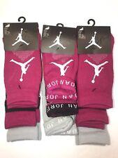 Nike AirJumpman Low Cut Quarter Crew 3 Pair Kids  Socks M Lot Of 3 $45 3139 0515