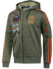 New Adidas Original Jacket StarWars Flock X Wind Track hoodie Green Olive O58904