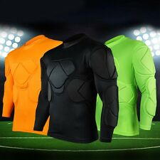 Men's Soccer Football Jersey Goal Keeper Goalie Padded Long Sleeve Shirt Tops