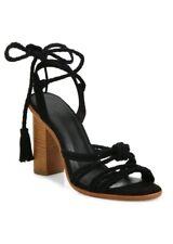 3b6b1ed3216c New  298 JOIE  Banji  Braided Black Suede Block heel sandal ...