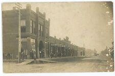Rppc Street View, Stores in Dows Ia Iowa Vintage Real Photo Postcard