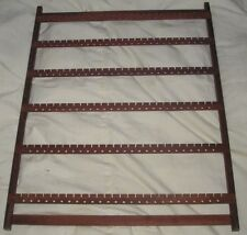 WOOD EARRING RACK 176 PADUCK   WALL MOUNT CASE DEAL