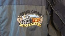 Mens Large Windbreakers Embroidered Steam Train from Grand Canyon
