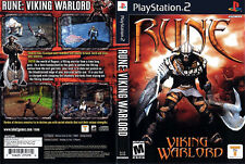 Rune Viking Warlord Sony PlayStation 2 PS2 Game Ragnar vs Loki 'M' Mature Adult