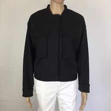 Kit Ace Black Tailored Cropped Flight Jacket NWT Size 10 RRP$260 (BE13)