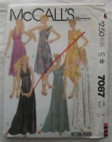 Vintage Dress & Gown Sewing Pattern*McCalls 7087*Size 9*UNCUT/FF*beach wedding