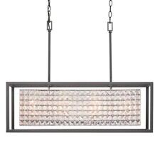 Home Decorators Shimmer 4-Light Graphite Island Chandelier