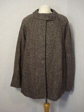 BNWOT La Redoute brown/grey tweed look coat/jacket 8-10