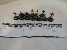 MARVEL HEROCLIX AVENGERS INFINITY COMPLETE COMMON FIGURE SET 1-12 WITH CARDS