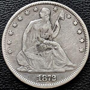 1872 CC Seated Liberty Half Dollar 50c Carson City Higher Grade XF Detail #15266