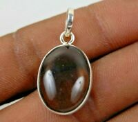925 Sterling Silver Pendant Necklace Natural Smoky Quartz Jewelry PS-1621