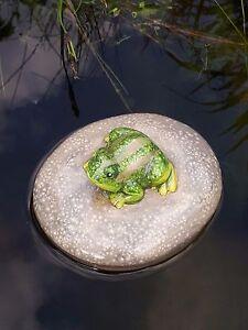 Frosch Stein Schwimmkugel Teich Dekoration Schwimmteich Brunnen Dekoration 37080