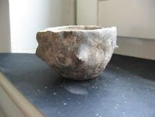BRONZE AGE DUBOVAC-ZUTO BRDO CULTURE CLAY URN 1400-1200 B.C. 67 mm.