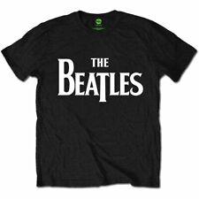 El logo de los Beatles classic drop-T Oficial John Lennon Rock Negro Para hombres Camiseta