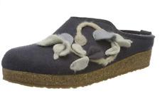 HAFLINGER GZL Grizzly Venus Asphalt Gray arch support wool Slipper US 6  EU 37