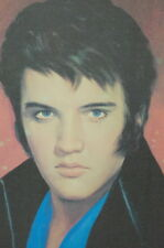 ORIGINAL PAINTING PORTRAIT OF ELVIS PRESLEY ON CANVAS 1979 LAWRENCE WILLIAMS