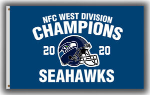 Seattle Seahawks NFC West Division Champions Flag 90x150cm 3x5ft Football banner