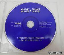 WHITNEY HOUSTON & Enrique Iglesias RARE 2000 Promo Single COULD I HAVE THIS KISS