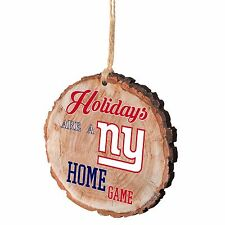 NY New York Giants Christmas Tree Ornament Stump New - Holidays are a Home Game