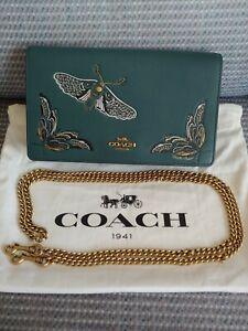 RARE COACH 38863 Tattoo Callie Chain Clutch Bag NEW 1941 Limited Edition $375