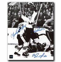 Paul Henderson, Yvan Cournoyer, Vladislav Tretiak 1972 Summit Series Autographed