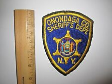 ONONDAGA CO. SHERIFF'S DEPT. POLICE EMBROIDERED PATCH MINT UNUSED