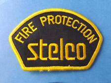 STELCO FIRE DEPARTMENT PATCH VINTAGE STEEL FACTORY FIREMEN FIREMAN ONT CANADA