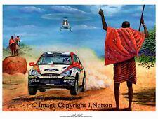 A3 ART PRINT COLIN McRAE FORD FOCUS WRC SAFARI 2002