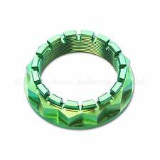 Ducati Panigale 1098 S 1198 S, 1199 S, 1299 S Green Titanium Rear Wheel Axle Nut