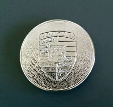 Porsche 356 60-65 & 911 912 65-73 Wheel Center Cap Emblem Crest - Satin Silver