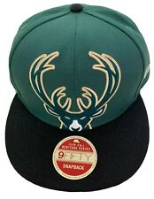 MILWAUKEE BUCKS 2020 NBA NEW ERA OVERSIZE LOGO HERITAGE SERIES SNAPBACK HAT CAP