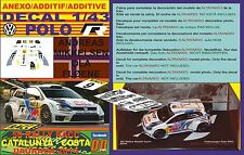 ANEXO DECAL 1/43 VOLKSWAGEN POLO R WRC A.MIKKELSEN R R.CATALUNYA 2014 7th (01)