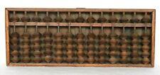 """Japanese Vintage Soroban Abacus Wood 13 Columns 6 Beads Width 27.5cm 10.82"""""""