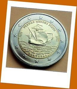 2 Euro Gedenkmünze Portugal 2011- 500. Geburtstag von Fernão Mendes Pinto - Neu