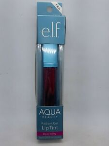 ELF E.L.F Aqua Beauty Radiant Gel Lip Tint Lip Stain Long Wear 57041 Dewy Berry