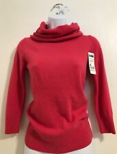Stile Benetton Sweater Pink Cowl Neck Size Xs