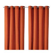 IKea Mariam Pair of Curtians Curtain OrangeNew