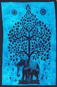 Bohemian Elephant Tree Poster Wall Hanging Hippie Tapestry Boho Ethnic Yoga Mat