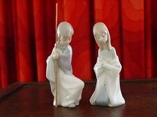 Lladro Virgin Mary #4671 and Saint Joseph #4672 in pristine condition