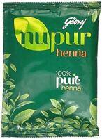 3 X Godrej Nupur Herbal Mehandi Henna Powder Natural Hair Color 120gm QD366