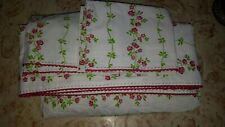 Pottery Barn PBTEEN Full Set Embroidered Floral Sheets