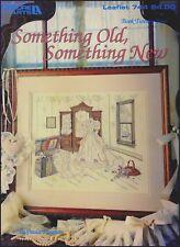 """Leisure Arts Leaflet 744 """"Something Old,Something New"""" Cross Stitch Chart."""