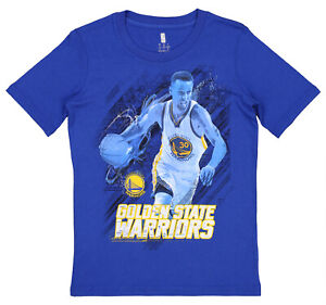 Golden State Warriors Stephen Curry #30 NBA Boys Youth Ghost Ball Tee, Blue