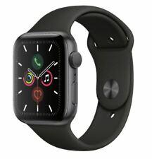 Reloj de Apple serie 5 Negro Deporte Banda 44mm/40mm Gris Espacial Aluminio cn Envío Gratuito